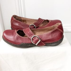 Sanita red leather loafers